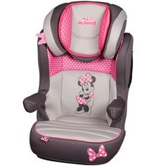 Disney Minnie Mouse Pink Dots Highback Booster Car Seat