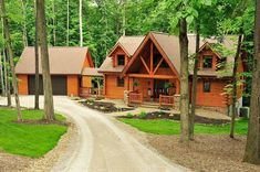 Buckhorn Log Home constructed by Fairview Log Homes of Millersburg OH.