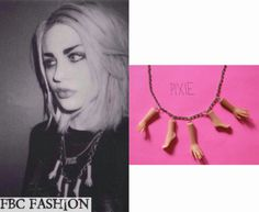 Frances Bean Cobain wears a Pixie and Pixier Dismembered Doll Necklace.