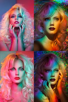 color lighting photoshoots - Google Search