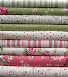 Barefoot Roses Legacy by Tanya Whelan for Free Spirit Fabrics 9 Fat Quarter Bundle.