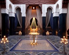 The Royal Mansour is like stepping into another world with men in black patrolling the hot...