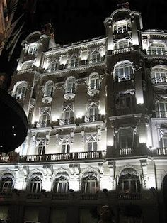 Barcelona hotel at night Barcelona Hotels, Hotel Reviews, Travel Tips, Black And White, Night, Cow, Travel Advice, Black White, Travel Hacks