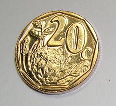 2015 South Africa (Suid Afrika) 20c Coin Venda Legend Afurika Tshipem / Protea