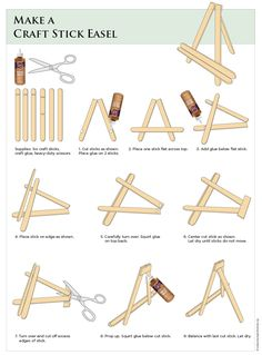 Craft Stick Easel Tutorial