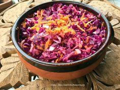 Ricetta insalata con cavolo rosso mele carote – salata de varza rosie cu mar si morcov