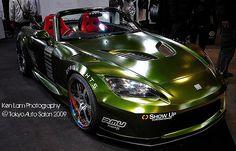 Tokyo Auto Salon 2009 - Customised Green Goblin Honda S2000 | Flickr - Photo Sharing!