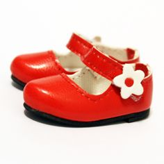 dollb.com / YO-SD ( Volks ) / Shoes / Red Flower Mary Janes (S00055D)  - Online Ball-jointed Dolls (BJD 球體關節人形) Shop