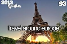 Travel, especially to see the Eiffel Tower Mykonos, Santorini, Bucket List Before I Die, Travel Around Europe, Adventure Bucket List, Life List, Lets Do It, I Want To Travel, Travel List