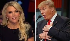 """But when his machismo went up against Megyn Kelly, the Fox News personality, debate moderator and nonstop voice for women's issues, he didn't stand a chance. In fact, Kelly spent most of the debate grilling Jeb Bush, Scott Walker and more candidates with surprisingly tough questions over reproductive rights and beyond. // For the record I'm not a fan of Ms Kelly. She also called Fiorina """"Carly"""" but never referred to the men by first names."""