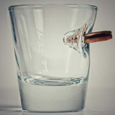 "Holidaygifts4ever >> Unique is the Word or Odd even. Great Gift for a Man who says he doesn't need or want anything in particular. If he likes His bullet firing Man Toys this would work well as a Gift for the Holidays. >> ""Shot Glass With Real Bullet"""