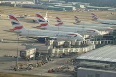 British Airways jets at Heathrow Terminal 5.