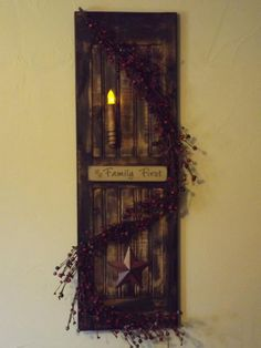 Primitive Crafts Pane Window Primitive Vintage Country Chalkboard Tan With
