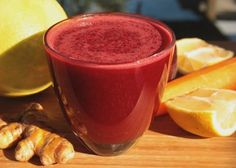 Beet juice  INGREDIENTS: 2 medium-sized beets ½-1 grapefruit 1 lemon 2 carrots 1 knob (1/2 inch) of turmeric  DIRECTIONS: Peel the grapefruit and lemon (optional) or scrub the lemon well. Wash and scrub the remaining produce and chop to fit your juicer. Juice & enjoy! Prep time: 5 minutes
