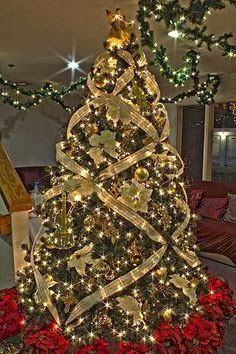 decor gold music themed christmas tree elegant christmas trees christmas tree themes christmas - Gold Christmas Decorations