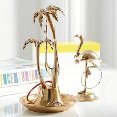 Chic Tropique Jewelry Holders from PBteen. Shop more products from PBteen on Wanelo. Teen Jewelry, Girls Jewelry Box, Jewelry Stand, Silver Jewelry, Jewellery Storage, Jewelry Organization, Organization Ideas, Diy Jewelry Holder, Tropical