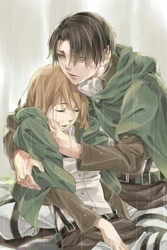 Levi and Petra, Attack on Titan. Putting this here because i have nowhere else :P SAAAAADS