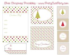 Free Christmas Printable Collection - Little Miss Marmalade