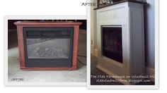 fireplace mantles, fireplac makeov, fireplaces, farmhouse, diy mantl, electric fireplace makeover, diy project, kitchen cabinets, fireplace makeovers