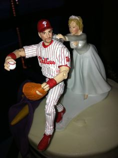 Philadelphia Phillies wedding cake topper