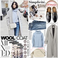 WOOL COAt by rinagq on Polyvore featuring мода, Maison Ullens, Zara, J.Crew and Gucci
