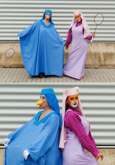 Lady Cluck and Maid Marian from Disney's Robin Hood