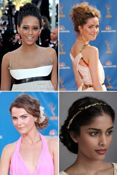 Penteados para noivas de cabelos cacheados - Coque
