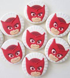 PJ máscaras Cookies por FingerhutCakes en Etsy