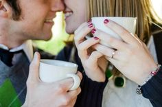 Winter Engagement shoot - we don't drink coffee, but it could be hot chocolate!