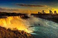 A Golden Sunset at Niagara Falls, Canada – USA