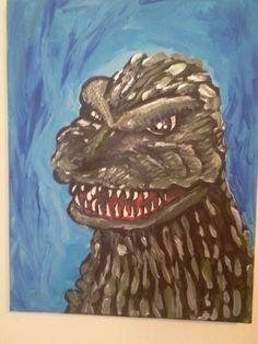 #Godzilla painting