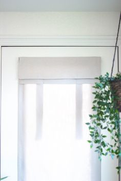 Dani Designs Co | Easy Install Curtain with no holes or damage | Easy Entryway and home remodel | Tan Herringbone French Door Curtain