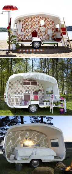 What's your glamping style?  #smallspace #camper