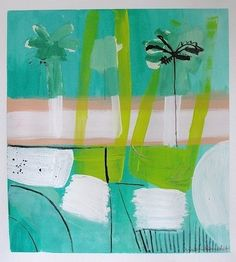 Sally King Benedict- Image of Pink Boardwalk 15x16 on paper