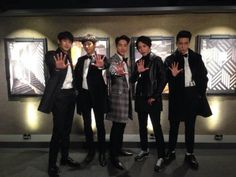 The Lucky 5! (Nickhun, L, Baro, Yonghwa, Mino)