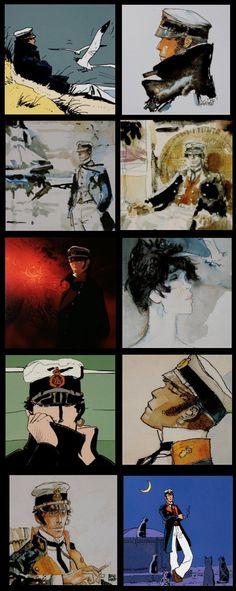 10 cartes postales BD - Hugo Pratt (Corto Maltese) - 14x 14 cm