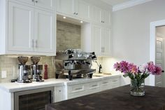 white shaker cabinets backsplash - Google Search