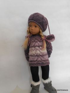 NEW HAND KNITTED OUTFIT FOR SASHA  DOLL . *Amethyst*