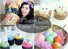 3 SUPER CUTE EASTER/KAWAII RECIPES!   -Multicolor Eggs -The Fluffy Bunnies -Chicks in Nests