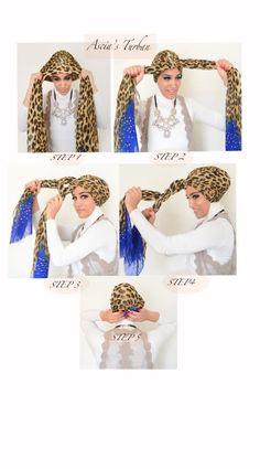 Como fazer um turbante // Como amarrar o lenço na cabeça