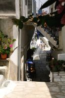 Little street Kardiani, Tinos Island, Greece