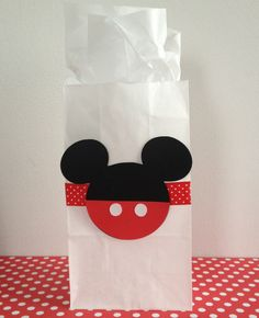Mickey Mouse Favor Bags  Set of 10 by MyDarlinDesigns on Etsy, $15.00