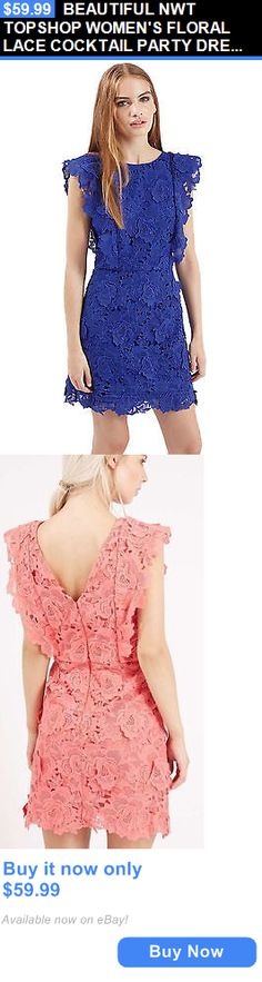 Women Fashion: Beautiful Nwt Topshop Womens Floral Lace Cocktail Party Dress M 8 BUY IT NOW ONLY: $59.99