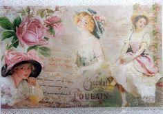 Rice Paper for Decoupage Decopatch Scrapbooking Sheet Craft Vintage Ladies 5