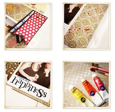 art scrap & more: alexandra's Sunday scrapbook - How to make background Papers with Stamps + Gesso