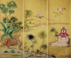 G & W Collections: Chinoiserie Papers - Prester John (panels)