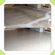 1 day polyurea garage floor coatings! Flooring, Decor, Decorative Tray, Garage, Home, Garage Floor Coatings, Concrete, Home Decor