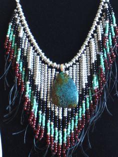 Native American style tribal fringed by MontanaTreasuresbyMJ, $120.00
