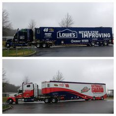 The Nos. 48 and 88 transporters are officially #DaytonaBound! #NASCAR #Daytona500