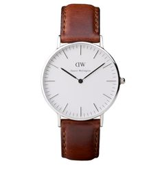 Classic St Andrews Ladies with brown leather strap and silver case